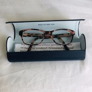 WARBY PARKER Sims 285 Pink Tortoise Glasses Frames